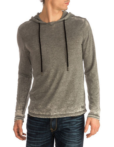 Guess Mark Burnout Hoodie-GREY-X-Large