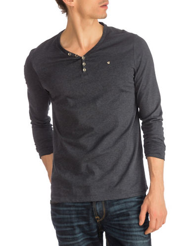 Guess Leonard Cotton Henley-NAVY-Small