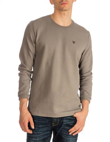Guess Manuel Fleece Sweatshirt-CHARCOAL-Large