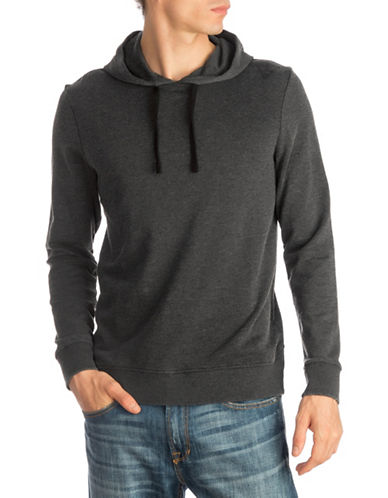 Guess Fleece Pullover Hoodie-GREY-X-Large 89675131_GREY_X-Large