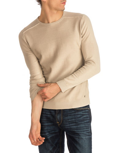 Guess Lenox Cotton Sweater-NATURAL-Large