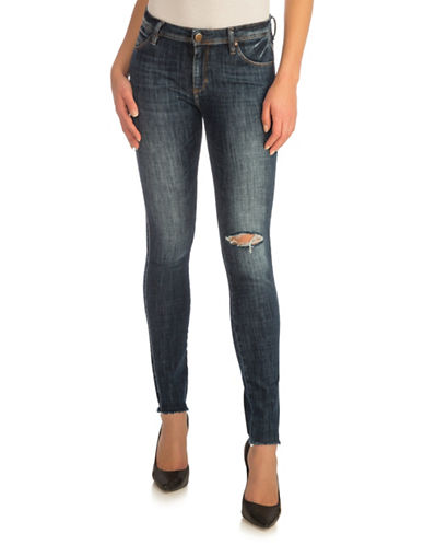 Guess Distressed Curve Jeans-BLUE-32