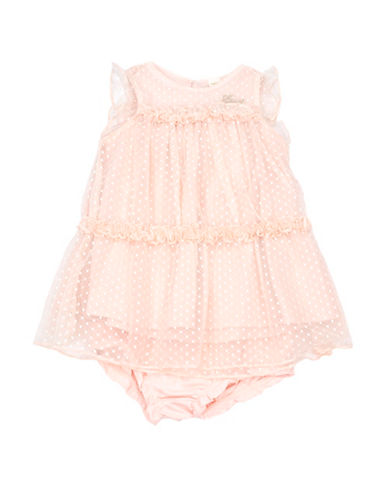 Guess Ruffle Dress and Bloomers Set-PEACH-3-6 Months