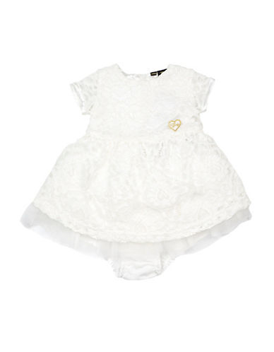 Guess Lace Dress and Bloomers Set-TRUE WHITE-12 Months