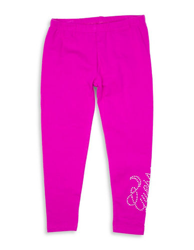 Guess Embellished Pull-on Leggings-FUSHIA-2