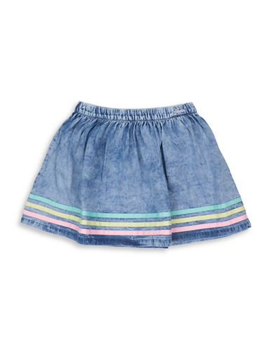 Guess Striped Pull-On Denim Skirt-MULTI-5