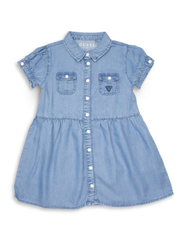 Guess Short-Sleeve Denim Dress-BLUE-2