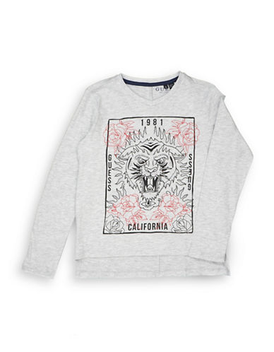 Guess Graphic Long-Sleeve T-Shirt-LIGHT GREY-8