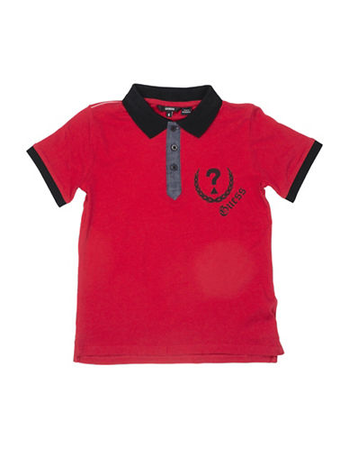 Guess Short-Sleeve Graphic Polo Shirt-VARSITY RED-14
