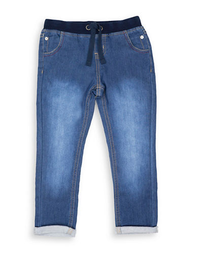 Guess Knit Denim Pants-BLUE-3
