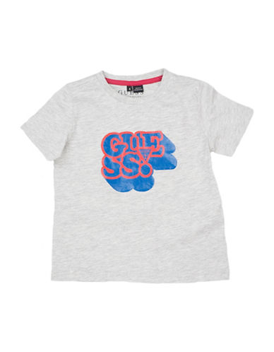 Guess Graphic Cotton Tee-LIGHT GREY-5