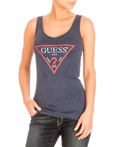 Guess Ribbed Cotton Tank Top 90084856