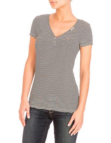Guess Serafino Striped Tee-BLACK-Medium 90084863_BLACK_Medium