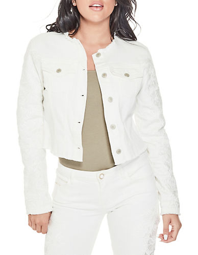 Guess Raw-Edge Denim Jacket-WHITE-X-Large 90084870_WHITE_X-Large