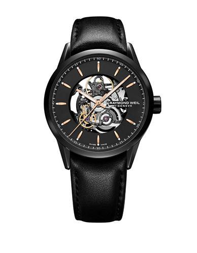 Raymond Weil Freelancer Automatic Skeleton Watch-BLACK-One Size