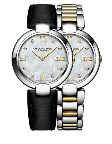 Raymond Weil Shine Diamonds, Gold PVD Plated Stainless Steel Watch and Interchangeable Straps Set-NO COLOR-One Size