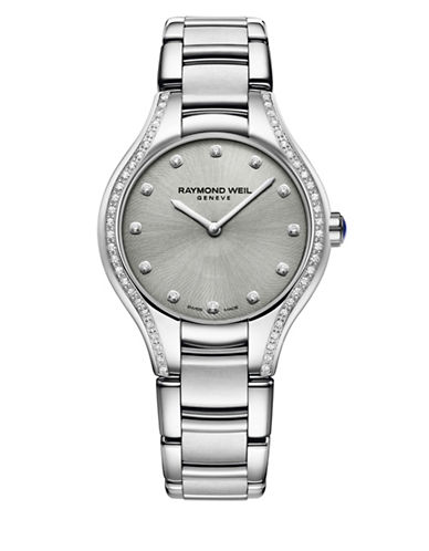 Raymond Weil Noemia Analog Diamond and Stainless Steel Watch-SILVER-One Size