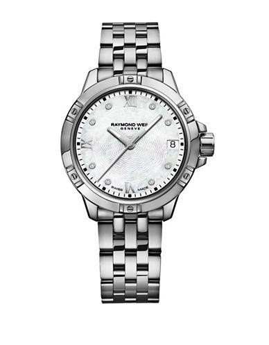 Raymond Weil Tango Stainless Steel Bracelet Watch with 0.18 TCW Diamonds-SILVER-One Size