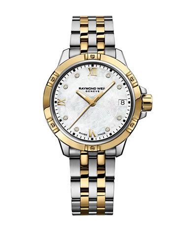 Raymond Weil Tango Two-Tone Bracelet Watch with 0.18 TCW Diamonds-TWO TONE-One Size