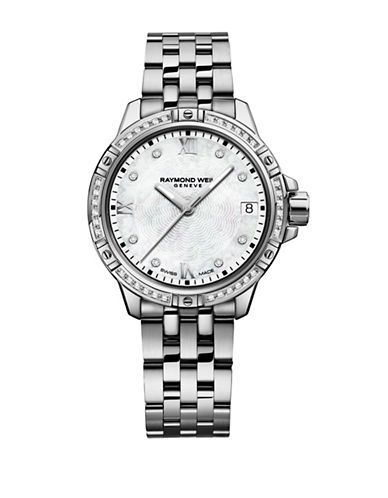 Raymond Weil 30mm Tango Mother-of-Pearl and 0.18TCW Diamonds Two-Tone Stainless Steel Bracelet Watch-SILVER-One Size