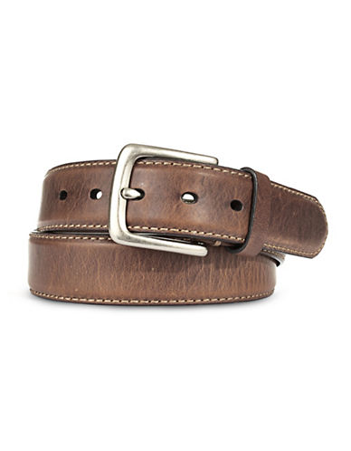 Fossil Aiden Leather Belt-BROWN-38