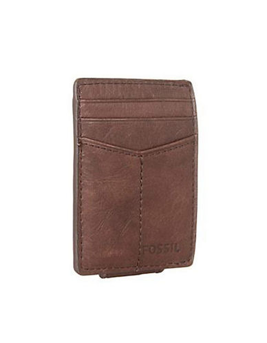 Fossil Ingram Magnetic Multicard Wallet-BROWN-One Size