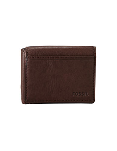 Fossil Ingram Execufold Wallet-BROWN-One Size