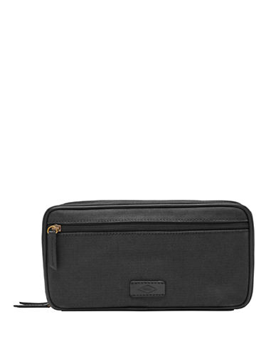 Fossil Double Zip Shaving Kit-BLACK-One Size