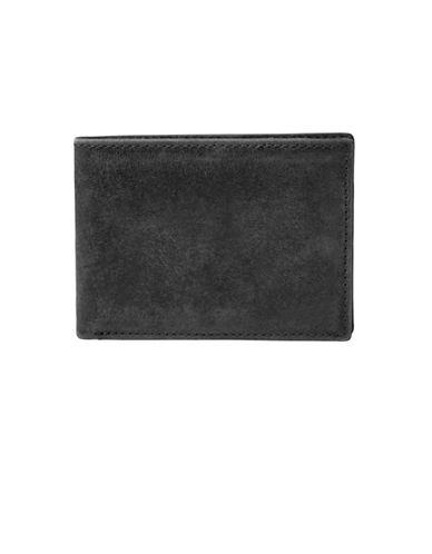 Fossil Anderson Leather Bifold Wallet-BLACK-One Size