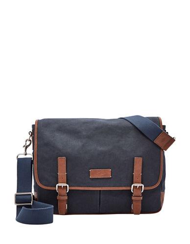 Fossil Graham East-West Messenger Bag-NAVY-One Size