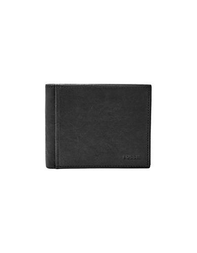 Fossil Ingram RFID Bifold Flip ID Wallet-BLACK-One Size