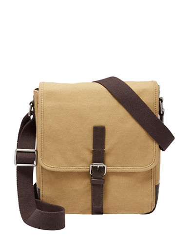Fossil Davis NS City Messenger Bag-BEIGE-One Size