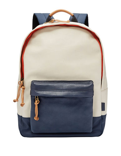 Fossil Estate Colourblock Backpack-KHAKI-One Size
