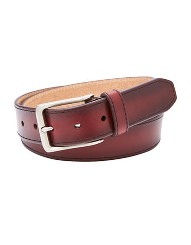 Fossil Griffin Leather Belt-BROWN-42