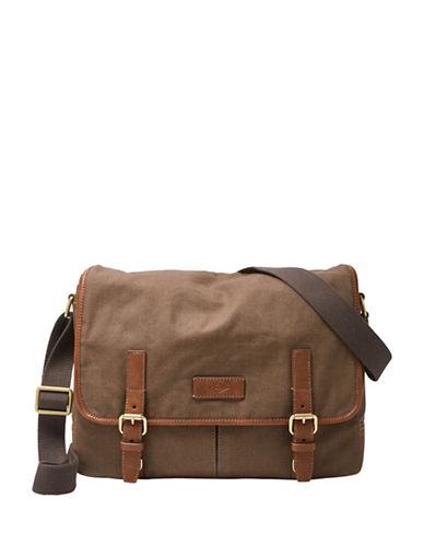Fossil Graham Messenger Bag-BROWN-One Size