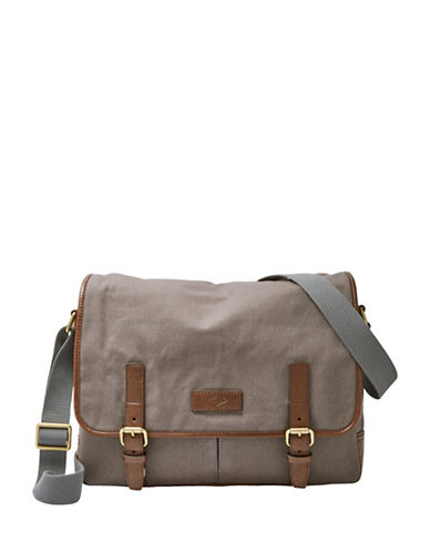 Fossil Graham Messenger Bag-GREY-One Size