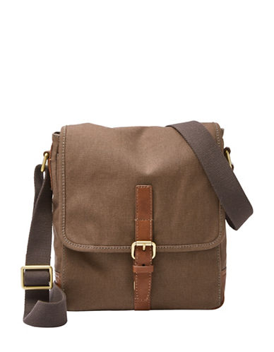 Fossil Davis City Messenger Bag-BROWN-One Size