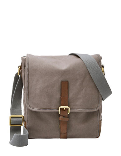 Fossil Davis City Messenger Bag-GREY-One Size