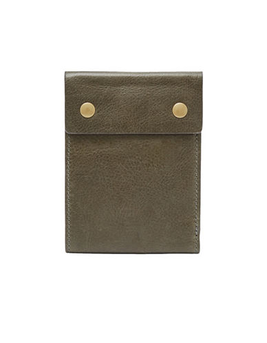 Fossil Ethan RFID Leather Bi-Fold Wallet-GREEN-One Size