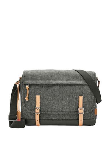 Fossil Defender Messenger Bag-GREY-One Size