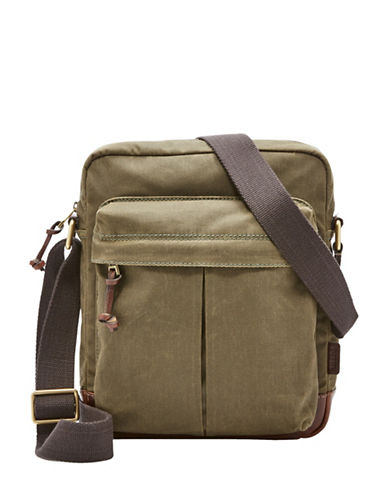 Fossil Defender City Messenger Bag-GREEN-One Size
