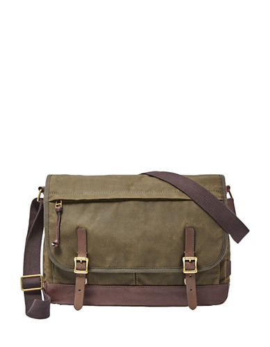 Fossil Defender Messenger Bag-GREEN-One Size