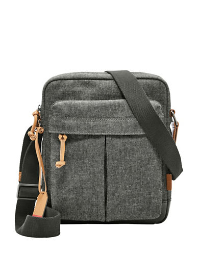 Fossil Defender City Messenger Bag-GREY-One Size