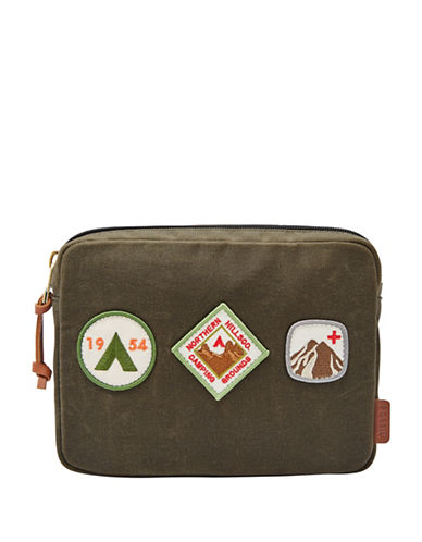 Fossil Patch Insert Pouch-GREEN-One Size
