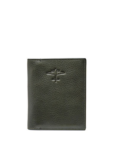 Fossil RFID Leather Passport Case-GREEN-One Size
