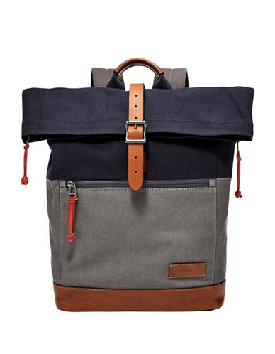 Fossil Defender RollTOP Backpack-GREY-One Size