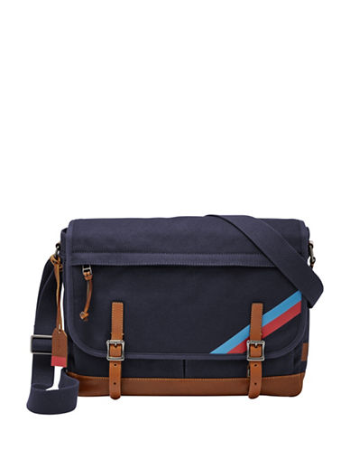 Fossil Defender Messenger Bag-NAVY-One Size