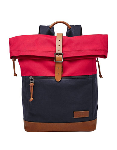 Fossil Defender RollTOP Backpack-RED-One Size
