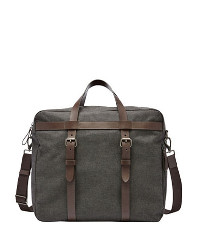 Fossil Haskell Weekender Bag-BLACK-One Size