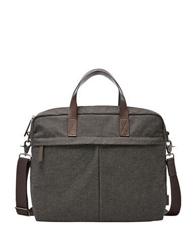 Fossil Buckner TOP Zip Workbag-BLACK-One Size